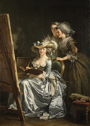 Adélaïde Labille-Guiard, Self-Portrait with Two Pupils