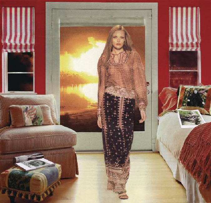 Martha Rosler, Red and White Shades (Baghdad Burning)